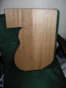 自作ギターアフリカンマホガニー木材加工裁断